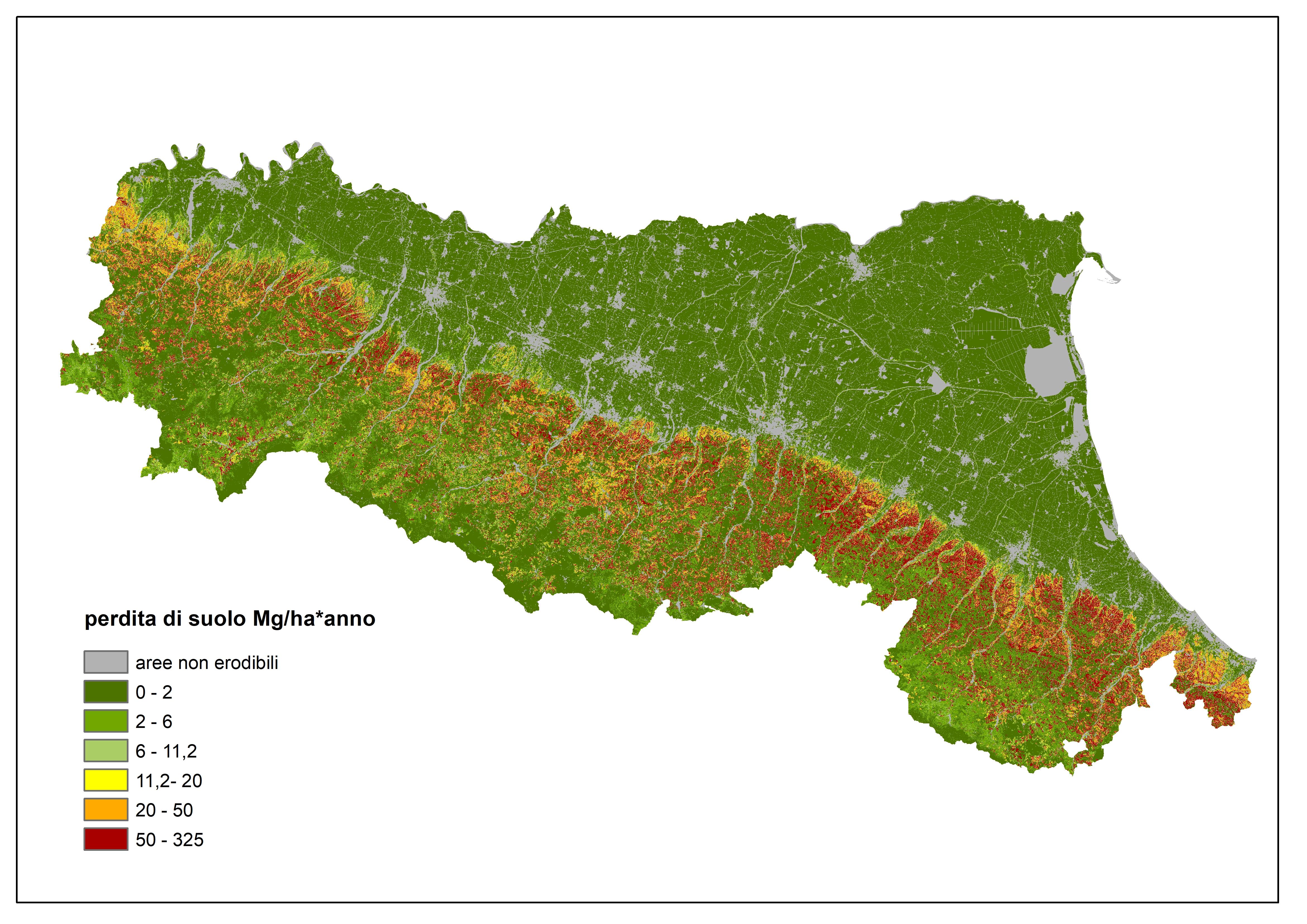 Cartina Topografica Emilia Romagna.Erosione Suolo